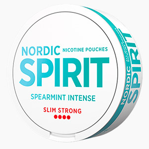 Nicotine Pouches Nordic Spirit Spearmint Intense Strong